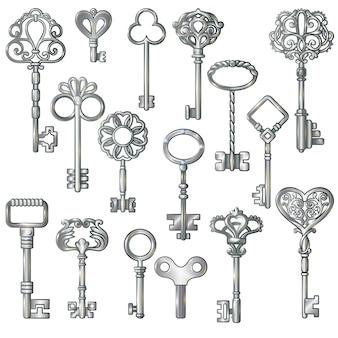Zestaw srebrnych kluczy