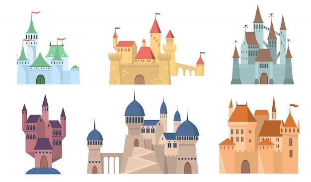 Zestaw średniowiecznych zamków