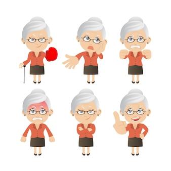 Zestaw starych ludzi