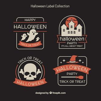 Zestaw starych naklejek halloween
