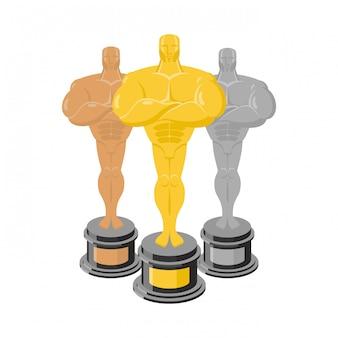Zestaw statuetek do nagradzania