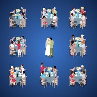 Zestaw stołów do ceremonii ślubnej