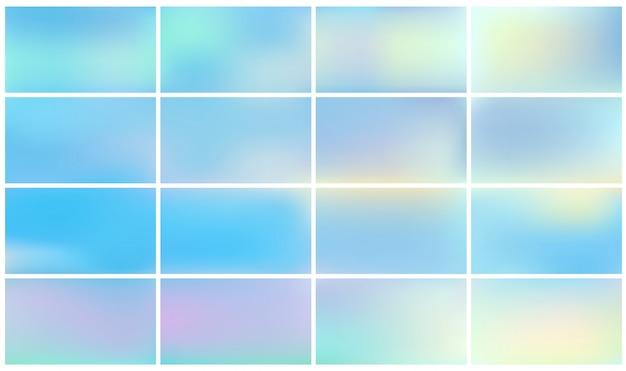 Zestaw streszczenie gradientu prostokąta