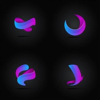 Zestaw streszczenie logo