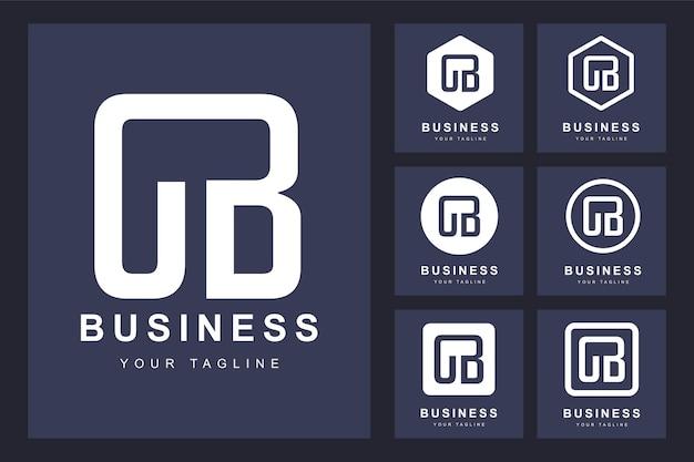 Zestaw streszczenie pierwsza litera cb, szablon logo.