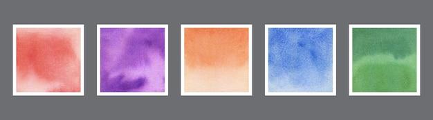 Zestaw streszczenie tekstura tło akwarela