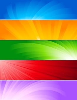 Zestaw streszczenie tło kolorowy transparent