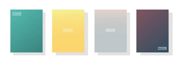 Zestaw streszczenie tło z pięknym kolorem gradacji, kolorowe tło dla plakatu ulotki banner backdrop.vertical banner.cool płynna ilustracja wektorowa tła