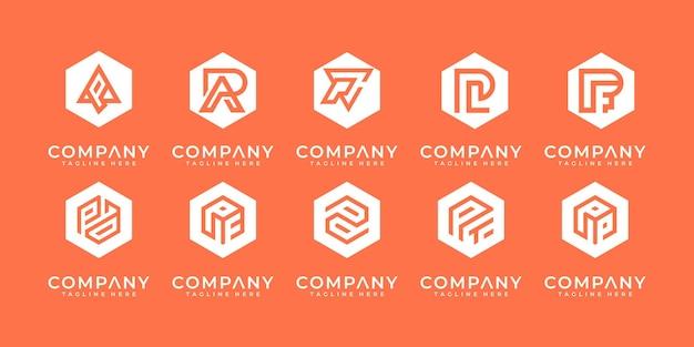 Zestaw streszczenie wstępny projekt logo az.monogram, ikony dla biznesu luksusowego, eleganckiego i losowego.