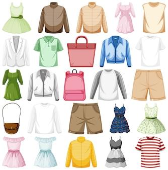 Zestaw strojów mody