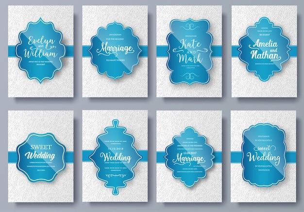 Zestaw stron artystycznych luksusowych kolorów z szablonem broszury logo