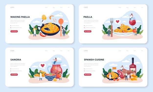 Zestaw strony docelowej paella
