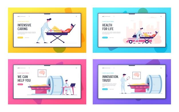 Zestaw strony docelowej witryny opieki zdrowotnej