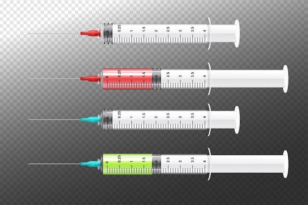 Zestaw strzykawek medycznych
