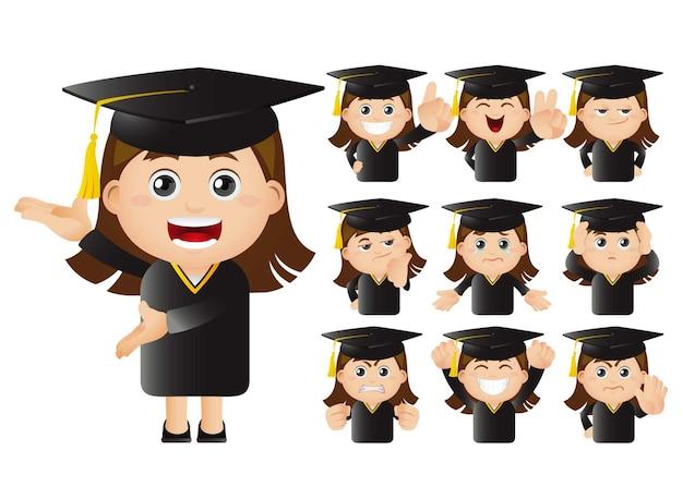 Zestaw studentów absolwentów