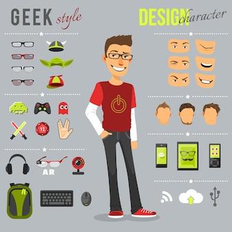 Zestaw stylów geek