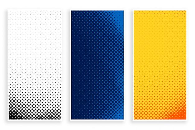 Zestaw stylowych banerów półtonów
