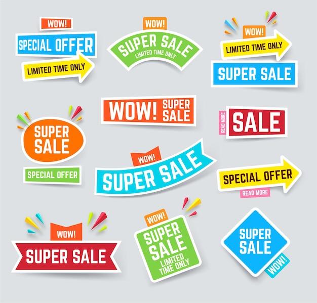 Zestaw super banerów sprzedaży, aby przyciągnąć uwagę
