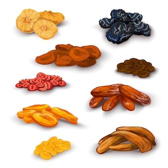 Zestaw suszonych owoców