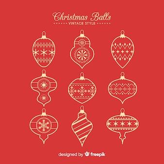 Zestaw świąteczne bombki