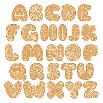 Zestaw świąteczny alfabet z piernika