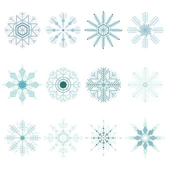 Zestaw świąteczny płatki śniegu