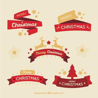 Zestaw świąteczny wstążki
