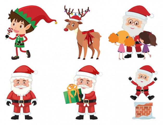 Zestaw świąteczny z mikołajem i reniferem