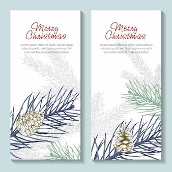 Zestaw świątecznych banerów.
