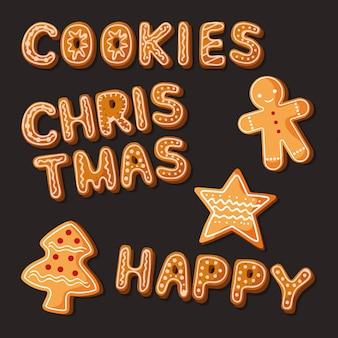 Zestaw świątecznych ciasteczek