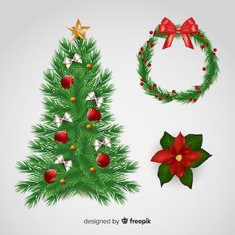 Zestaw świątecznych dekoracji