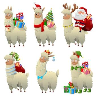 Zestaw świątecznych lamy