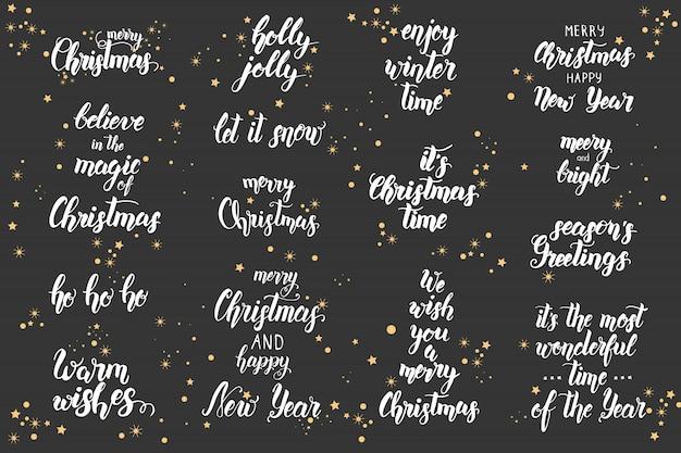 Zestaw świątecznych liter
