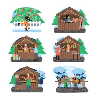Zestaw świątecznych targów