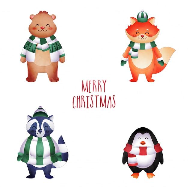 Zestaw świątecznych zwierząt