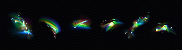 Zestaw świateł kryształowej tęczy