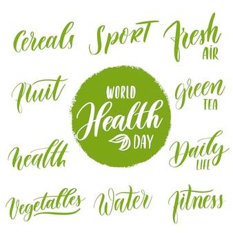 Zestaw światowego dnia zdrowia