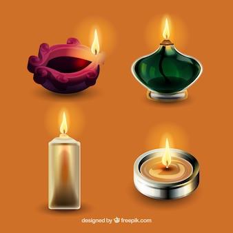 Zestaw świec diwali