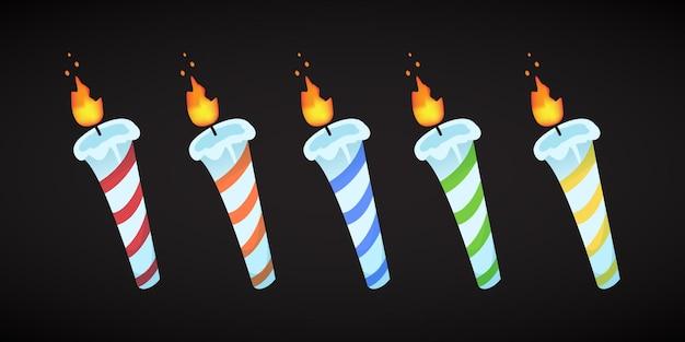 Zestaw świec urodzinowych