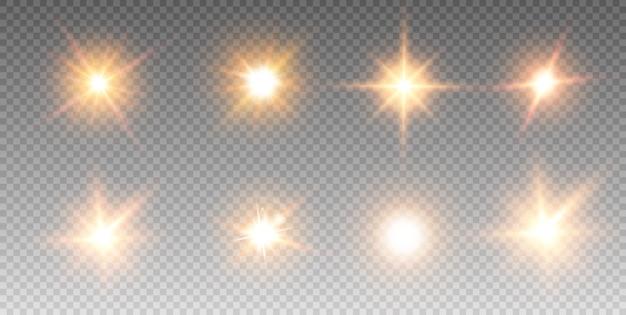 Zestaw świecących efektów świetlnych