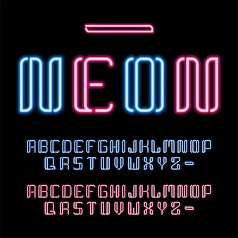Zestaw świecących liter lat 80-tych