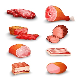 Zestaw świeżego mięsa