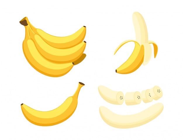 Zestaw świeżych bananów