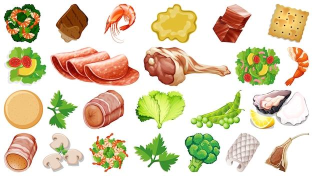 Zestaw świeżych składników żywności