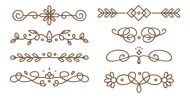 Zestaw swirly dekoracyjnych przekładek