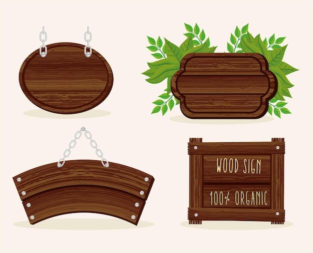 Zestaw sygnałów drewna