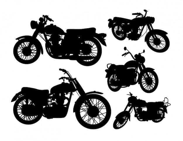 Zestaw sylwetka transportu motocykla