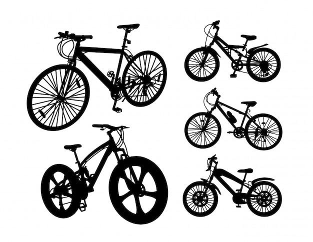 Zestaw sylwetka transportu rowerów
