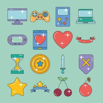 Zestaw symboli gier wideo