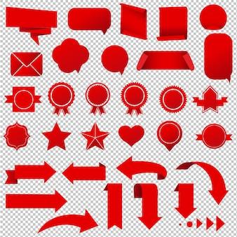 Zestaw symboli, ilustracji